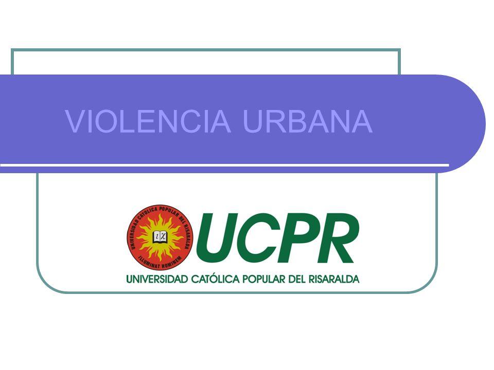 Violencia Urbana Violencia Colombiana más allá de las cifras significativas En el 2006 se registraron en el país 38 homicidios de jóvenes por cada 100.00 habitantes, mientras que en Pereira hubo 134.8 homicidios de jóvenes por cada 100.000 habitantes.
