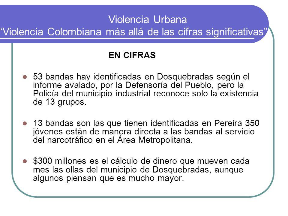 EN CIFRAS 53 bandas hay identificadas en Dosquebradas según el informe avalado, por la Defensoría del Pueblo, pero la Policía del municipio industrial