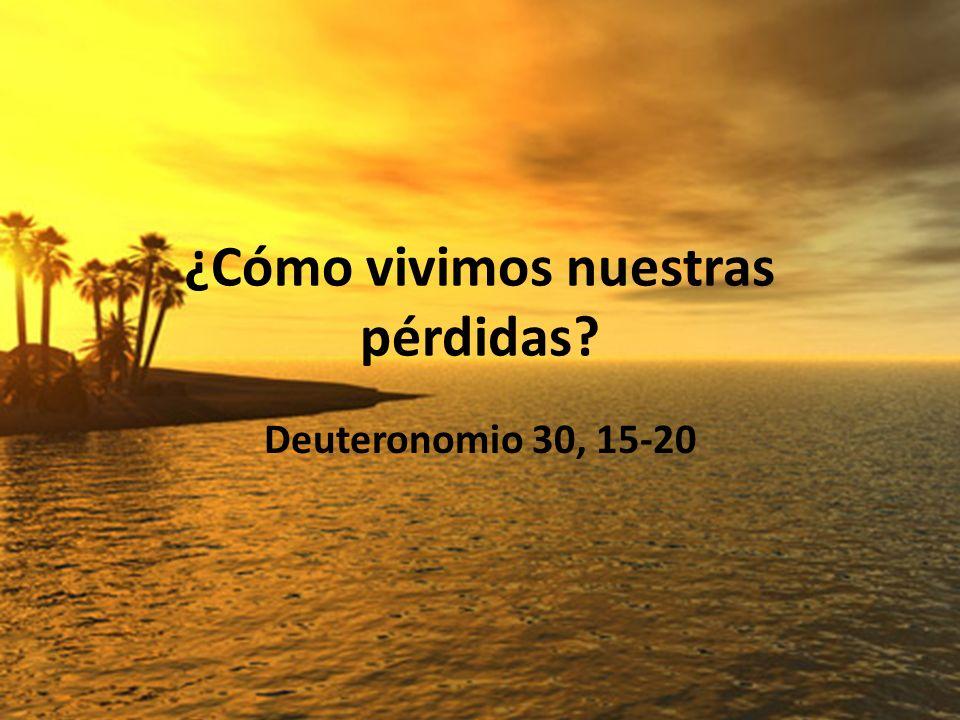 ¿Cómo vivimos nuestras pérdidas? Deuteronomio 30, 15-20