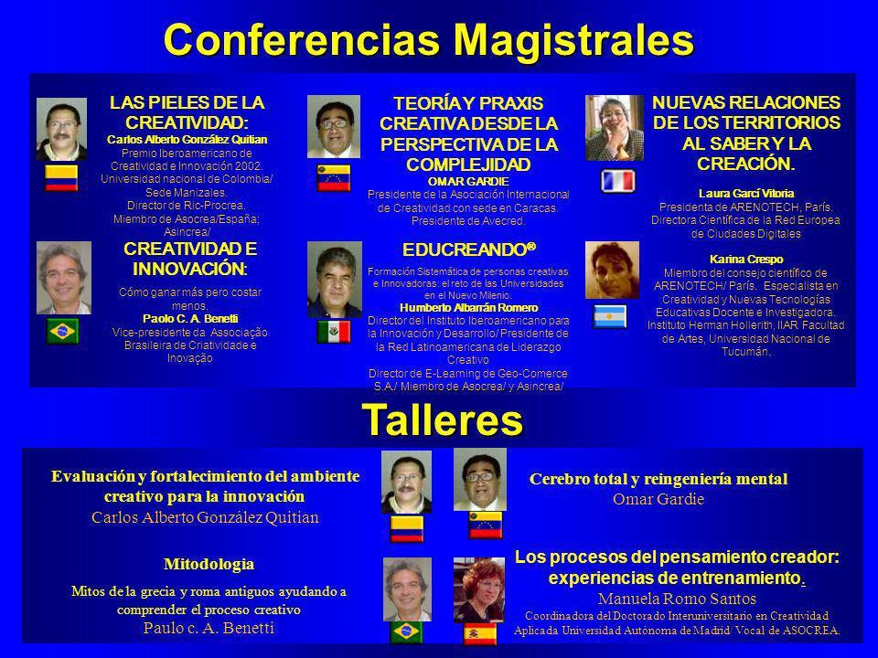 4a Conferencia Iberoamericana de Creatividad e Innovacion Julio 8 y 9. Mexico, D.F. / Hotel Del Prado/ Salon Allende/ http://www.geocities.com/eventos