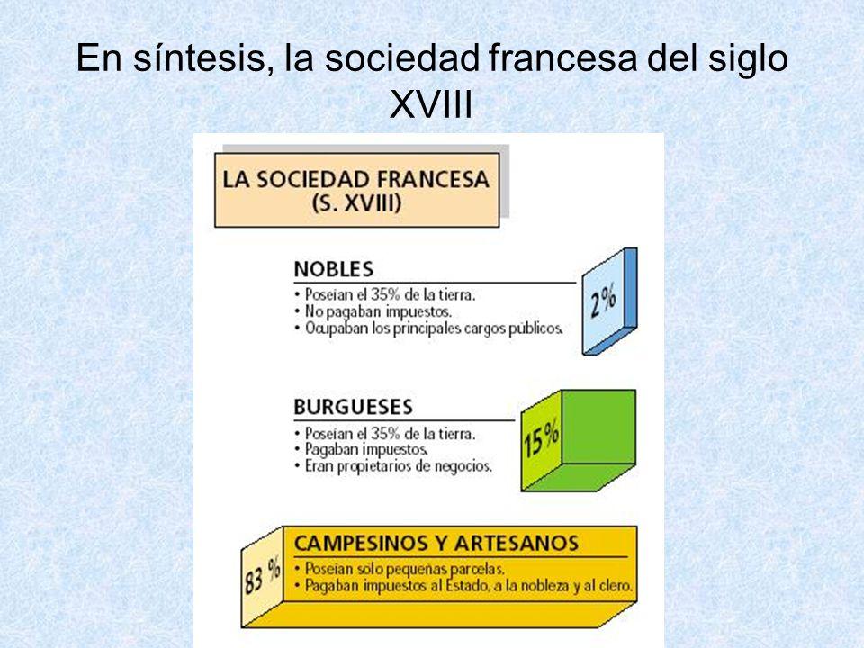 En síntesis, la sociedad francesa del siglo XVIII