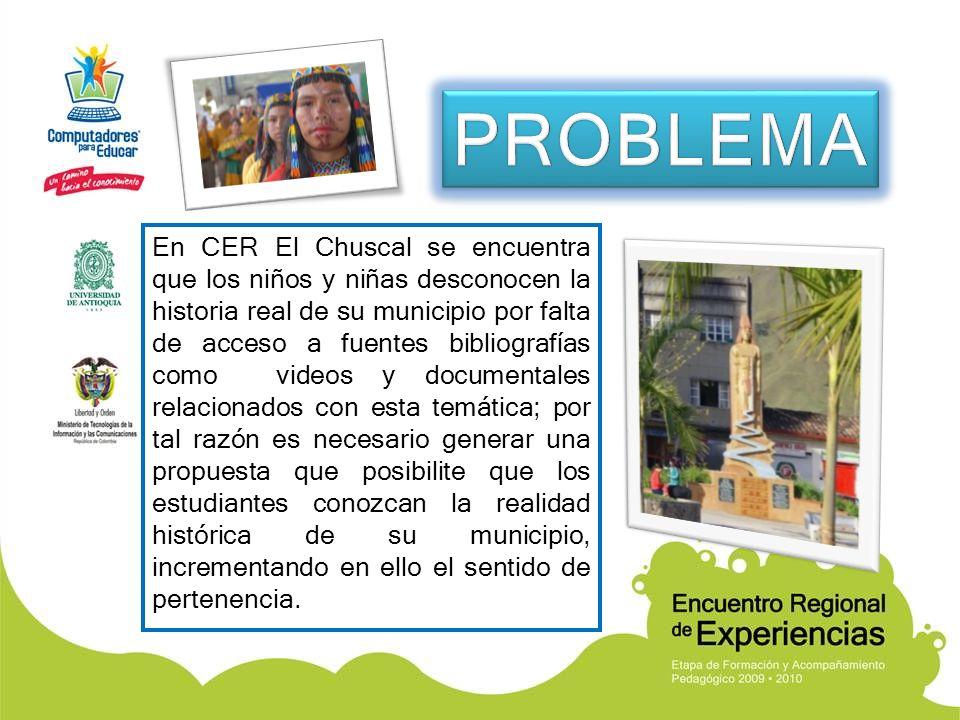 En CER El Chuscal se encuentra que los niños y niñas desconocen la historia real de su municipio por falta de acceso a fuentes bibliografías como vide