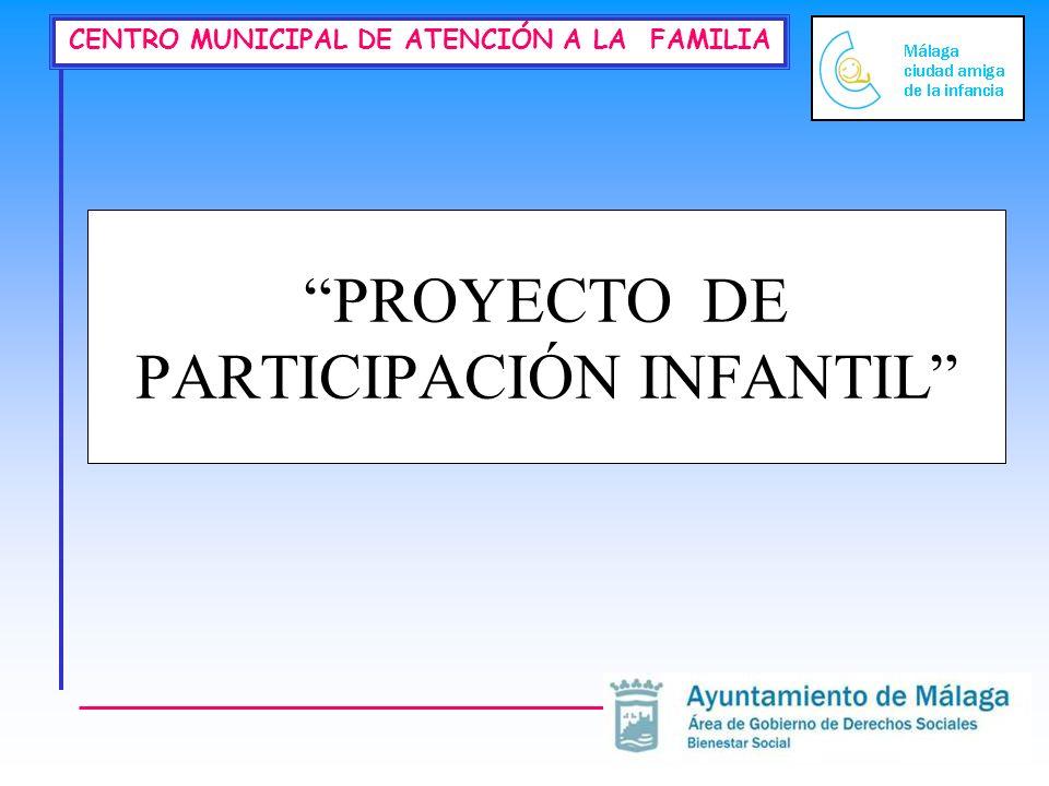 CENTRO MUNICIPAL DE ATENCIÓN A LA FAMILIA PROYECTO DE PARTICIPACIÓN INFANTIL