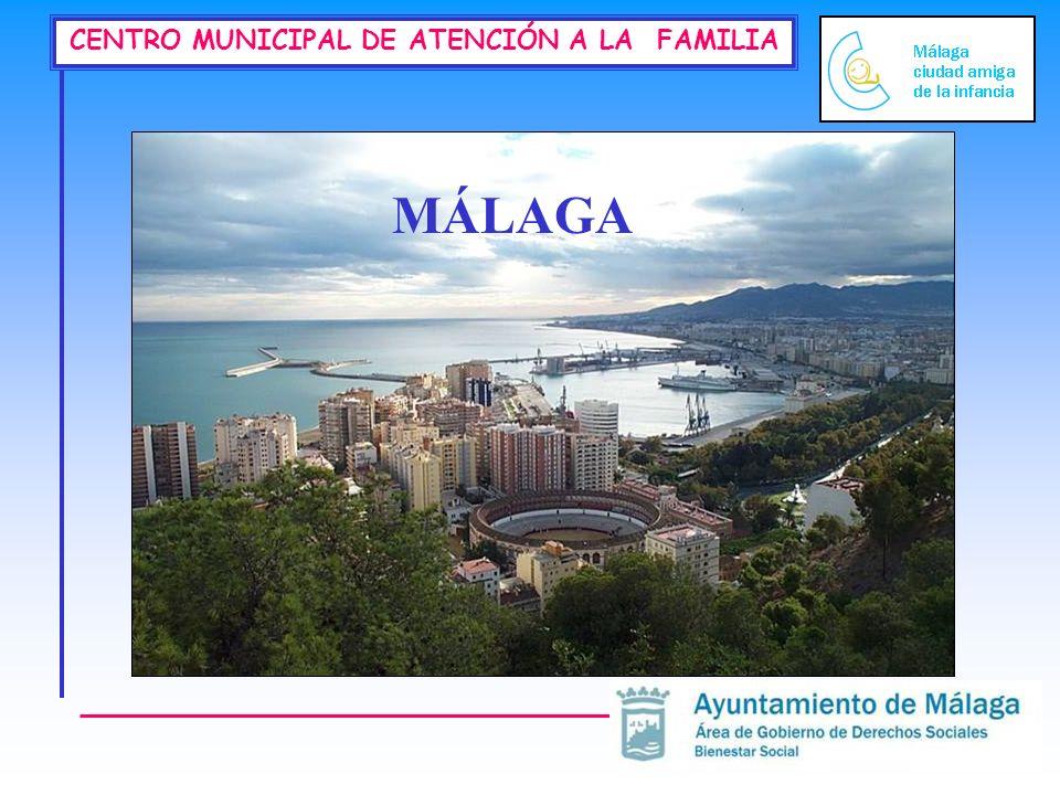 CENTRO MUNICIPAL DE ATENCIÓN A LA FAMILIA 577.884 habitantes 734,14 habitantes por Km cuadrado 48,45 % hombres // 51,55% mujeres Edad Media.