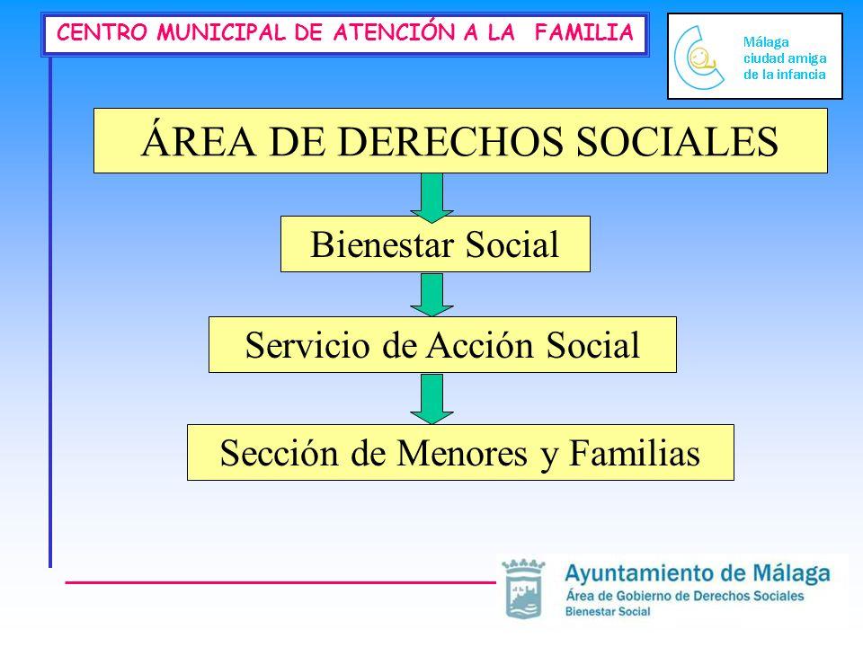 CENTRO MUNICIPAL DE ATENCIÓN A LA FAMILIA ÁREA DE DERECHOS SOCIALES Bienestar Social Servicio de Acción Social Sección de Menores y Familias