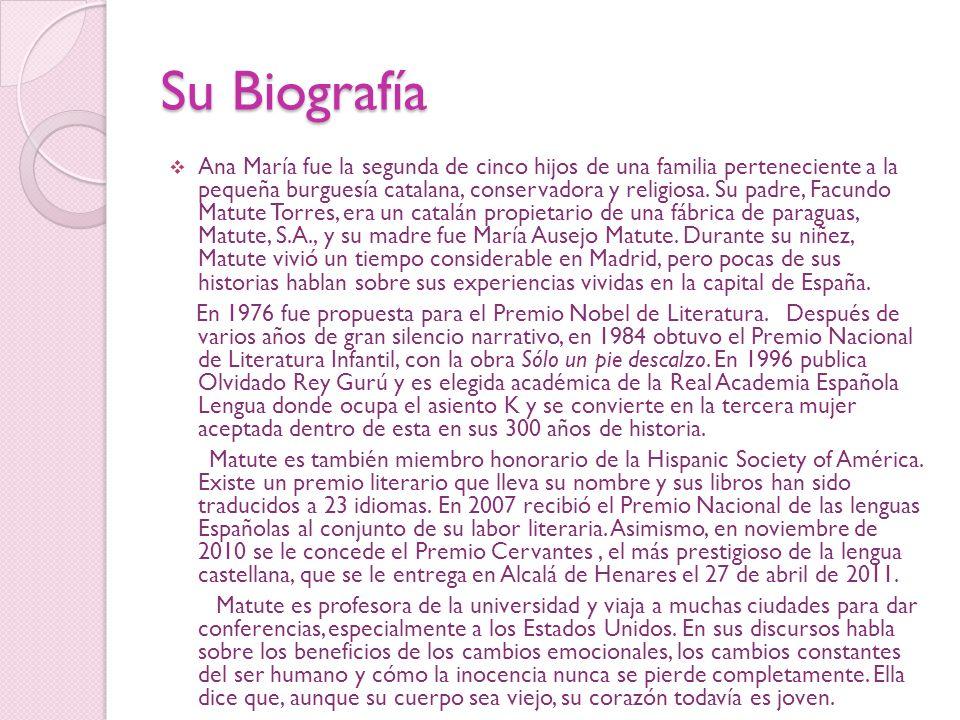 Relato de Ana María Matute Paraíso Inhabitado de Ana María Matute: «Nací cuando mis padres ya no se querían», recuerda Adriana, mucho después de que todo haya sucedido.