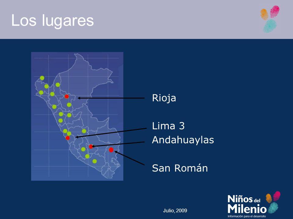 Julio, 2009 Los lugares Rioja Lima 3 Andahuaylas San Román