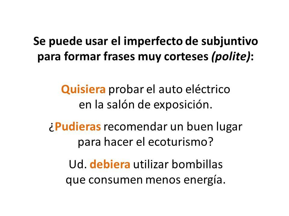 Quisiera probar el auto eléctrico en la salón de exposición.