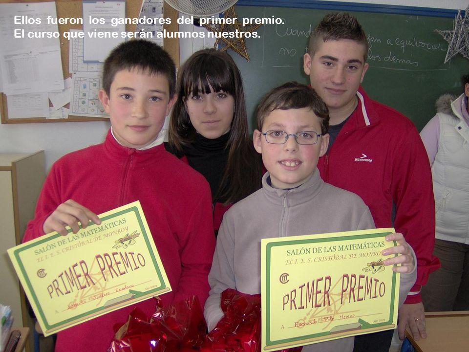 Ellos fueron los ganadores del primer premio. El curso que viene serán alumnos nuestros.