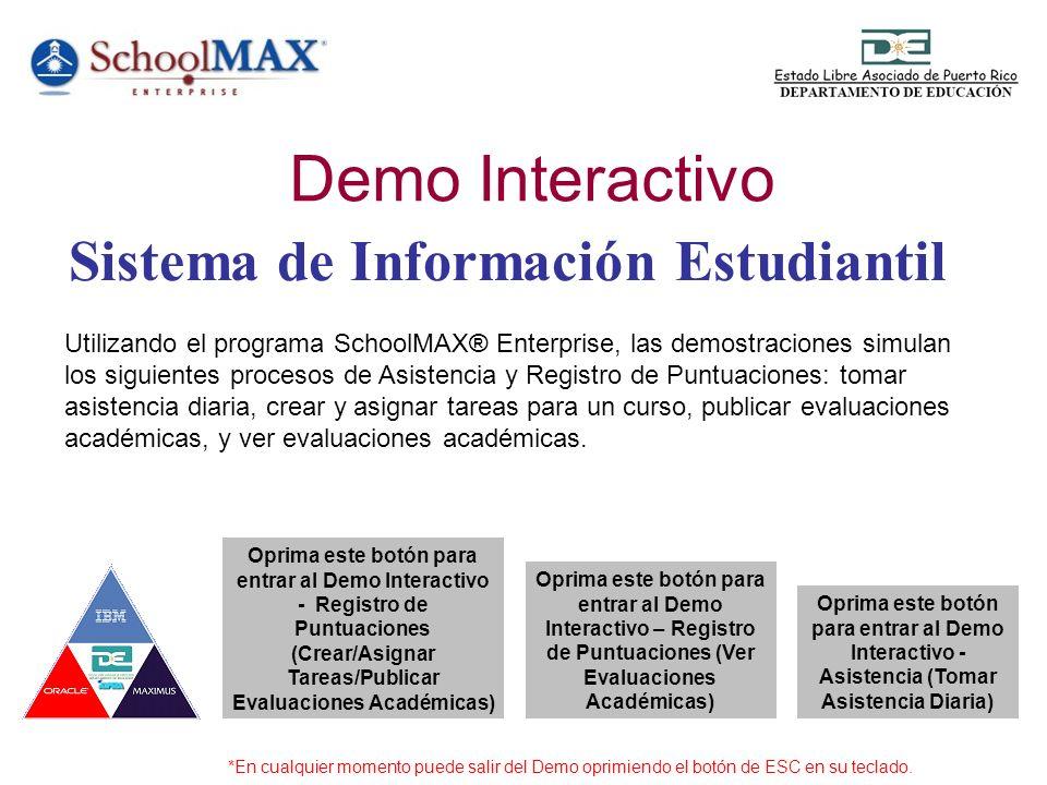 Esta demostración simula los procesos de crear y asignar tareas para un curso y también publicar evaluaciones académicas.