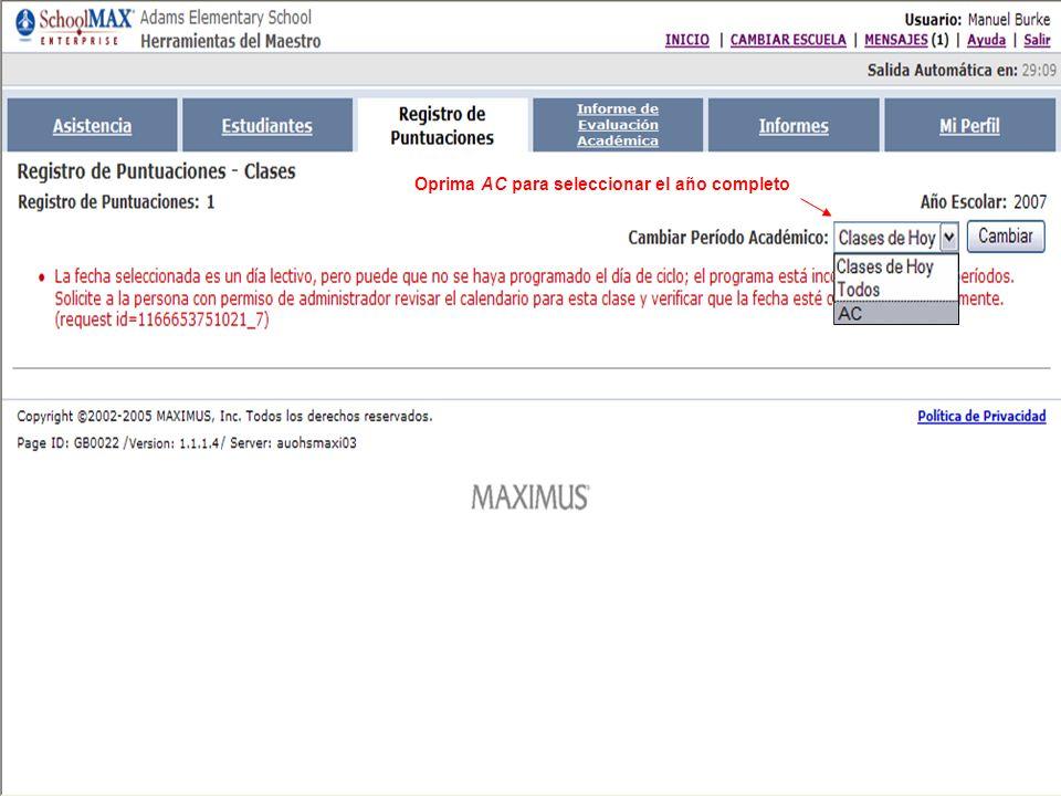 Note que la información ya fue publicada Oprima para salir del sistema
