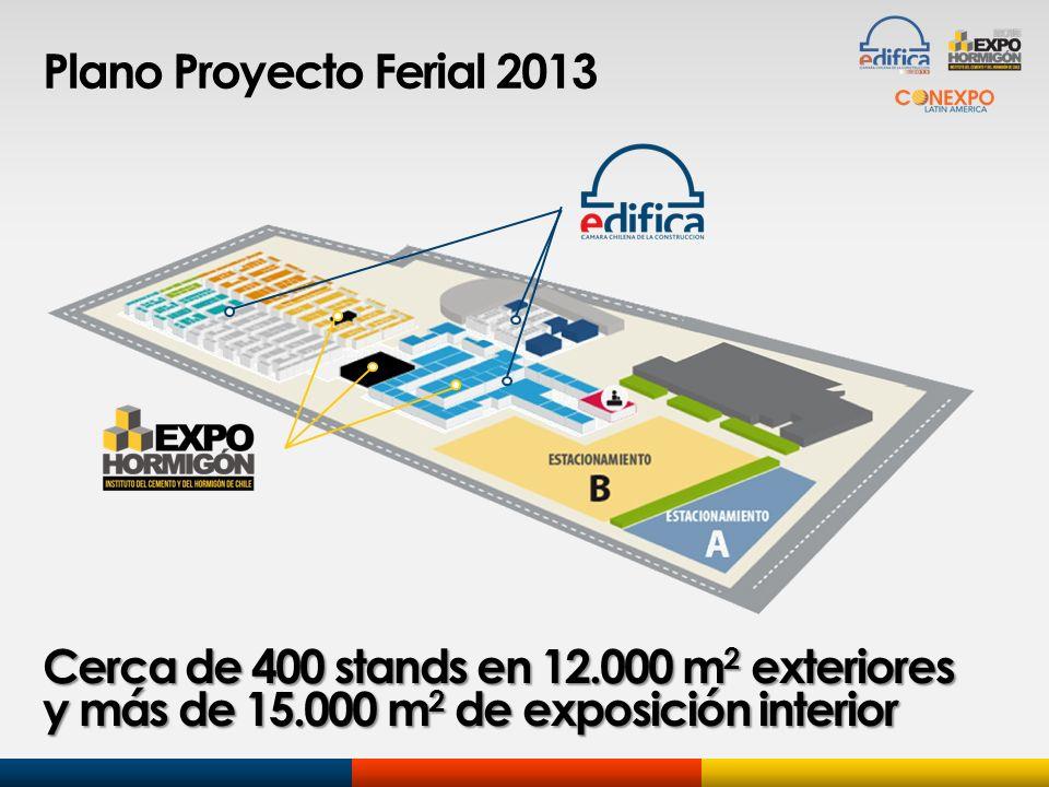 Plano Proyecto Ferial 2013 Cerca de 400 stands en 12.000 m 2 exteriores y más de 15.000 m 2 de exposición interior