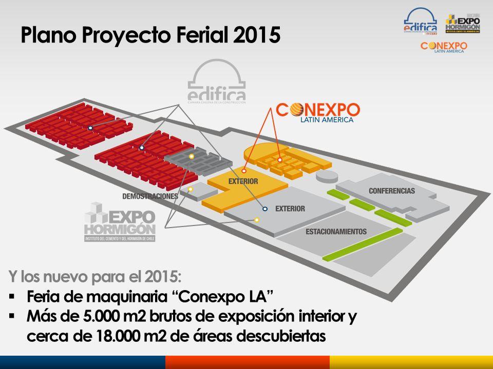 Y los nuevo para el 2015: Feria de maquinaria Conexpo LA Más de 5.000 m2 brutos de exposición interior y cerca de 18.000 m2 de áreas descubiertas