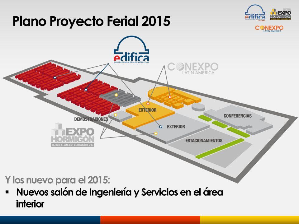 Plano Proyecto Ferial 2015 Y los nuevo para el 2015: Nuevos salón de Ingeniería y Servicios en el área interior