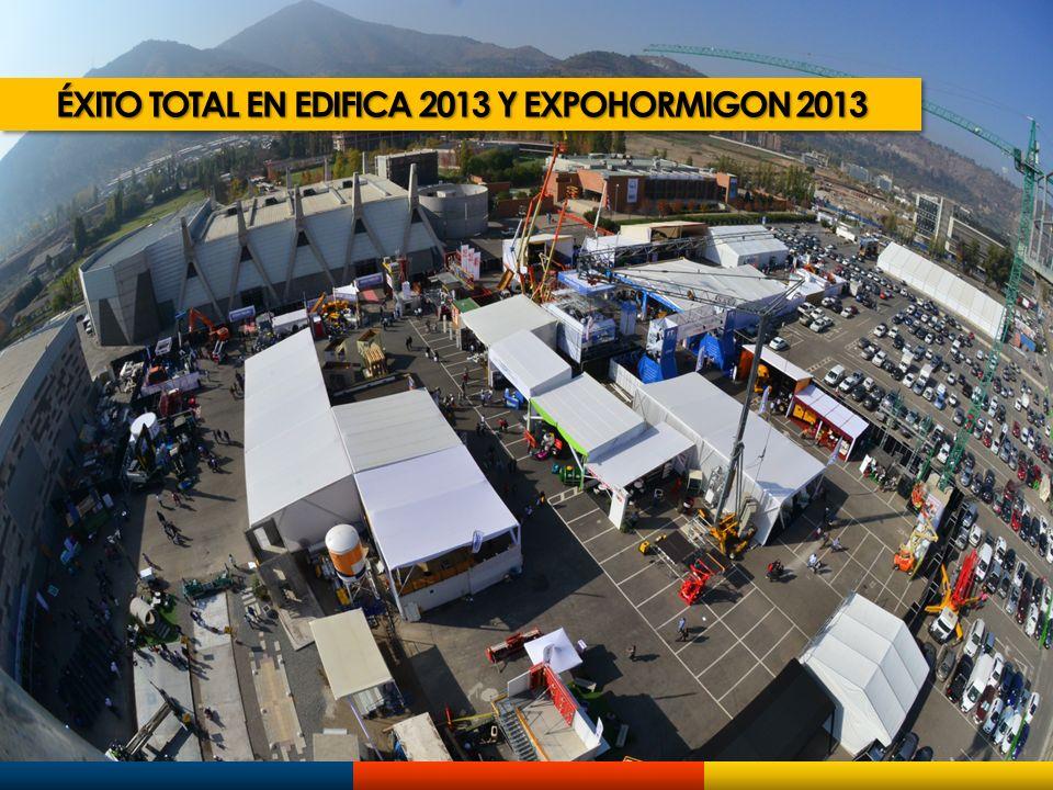 ÉXITO TOTAL EN EDIFICA 2013 Y EXPOHORMIGON 2013