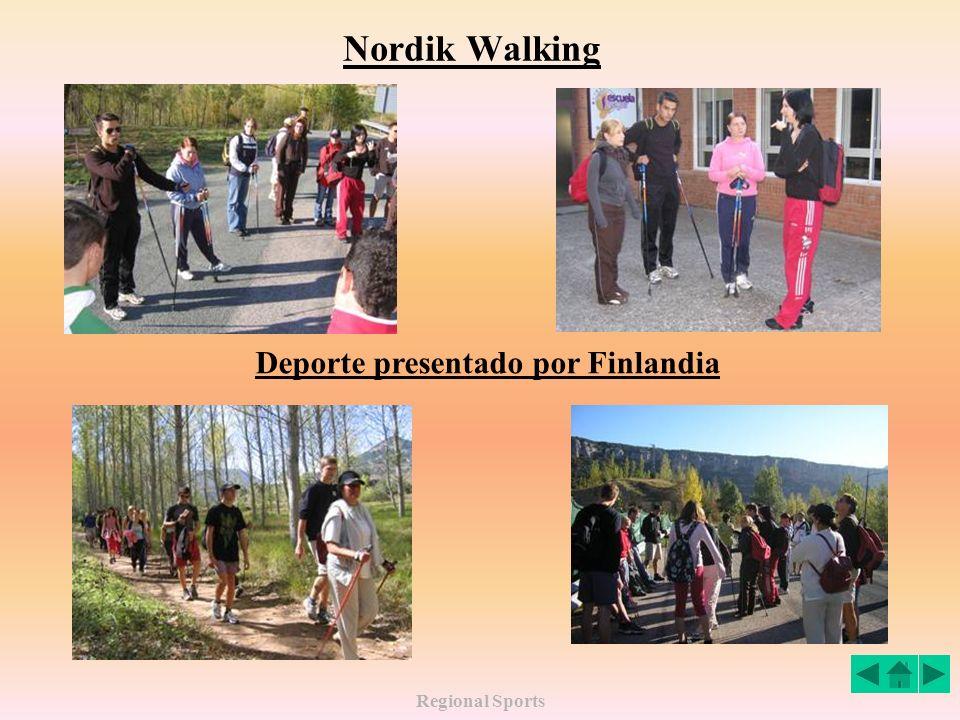 Regional Sports Nordik Walking Deporte presentado por Finlandia