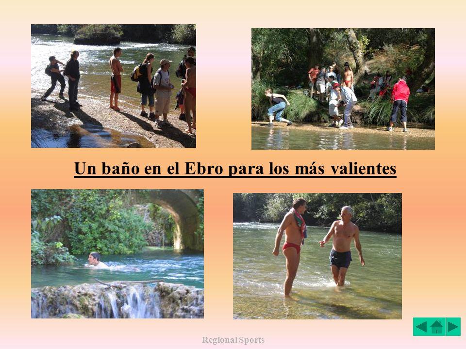 Regional Sports Un baño en el Ebro para los más valientes