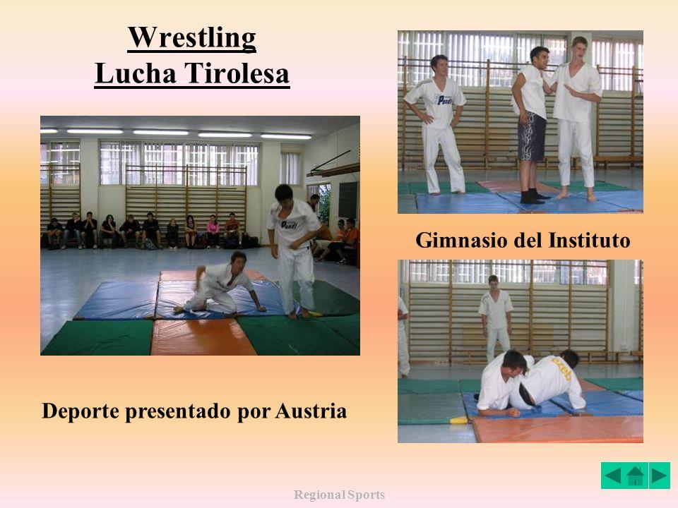 Regional Sports Wrestling Lucha Tirolesa Deporte presentado por Austria Gimnasio del Instituto