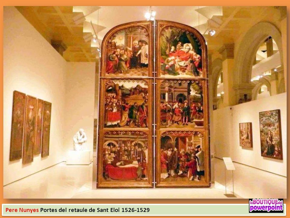 Pedro Berruguete Dues sarges del revestiment de les portes d'un retaule amb escenes de la vida de santa Caterina 1495 Mestre dAstorga Retaule de la Pa
