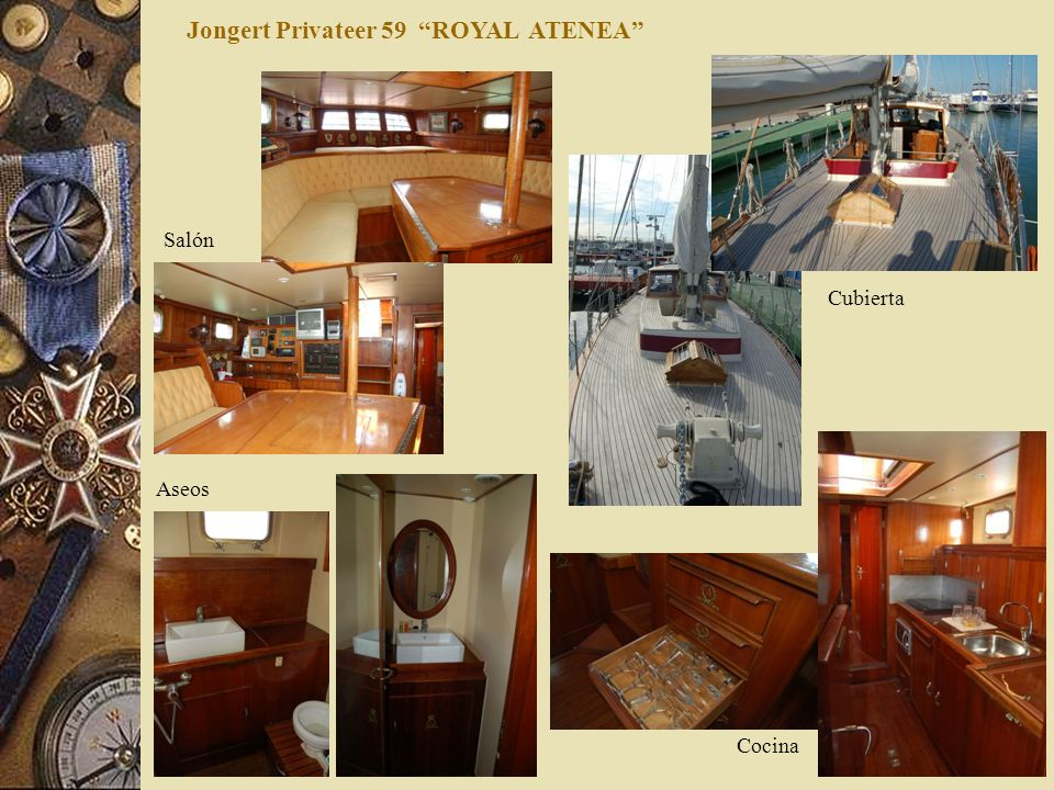 Jongert Privateer 59 ROYAL ATENEA Cubierta Salón Aseos Cocina