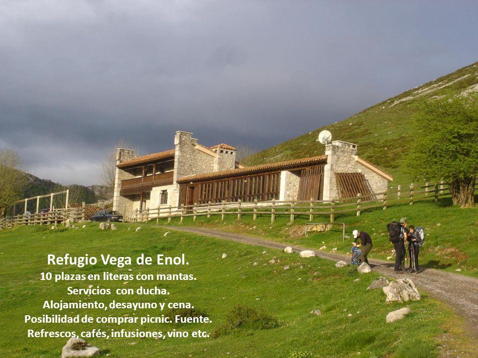 Refugio Vega de Enol.10 plazas en literas con mantas.