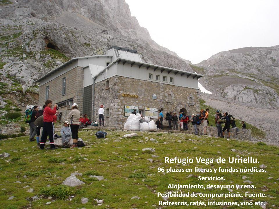 Refugio Vega de Urriellu.96 plazas en literas y fundas nórdicas.