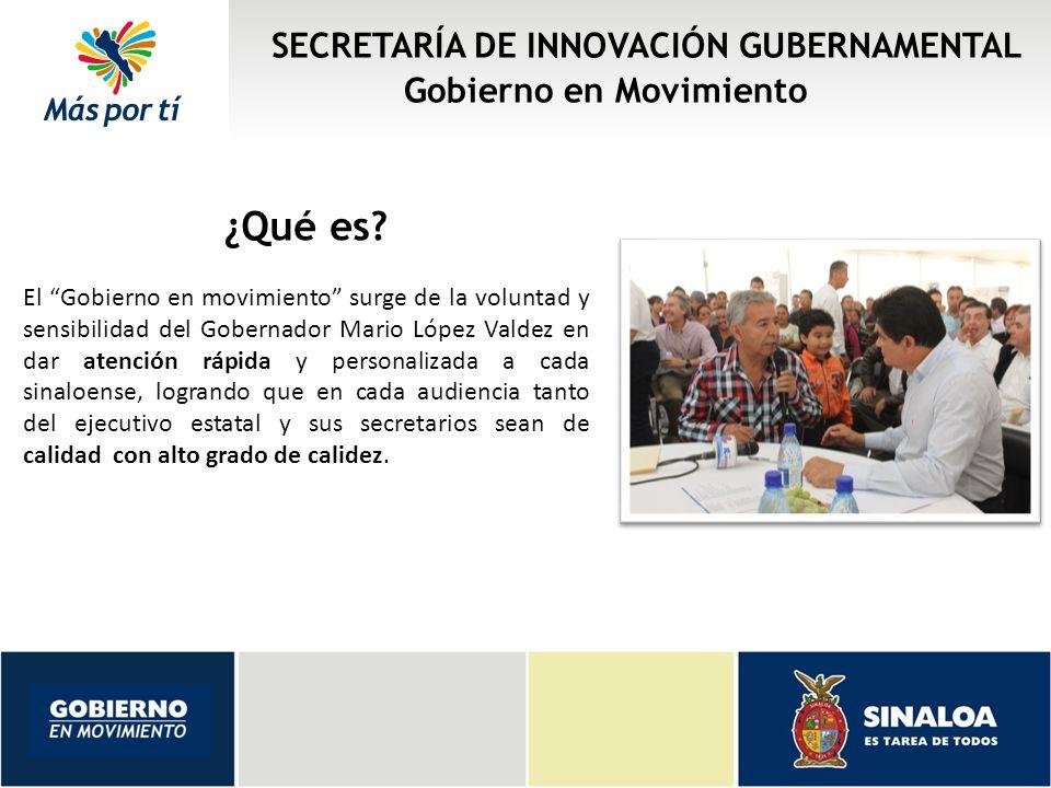 SECRETARÍA DE INNOVACIÓN GUBERNAMENTAL Gobierno en Movimiento ¿Quiénes participan.