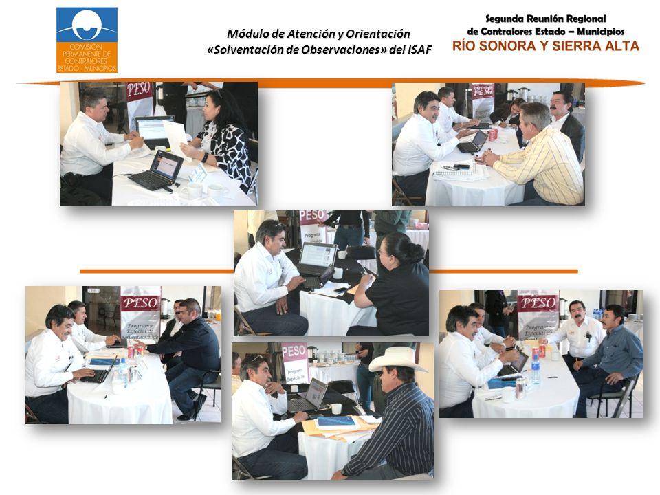 Módulo de Atención y Orientación «Solventación de Observaciones» del ISAF