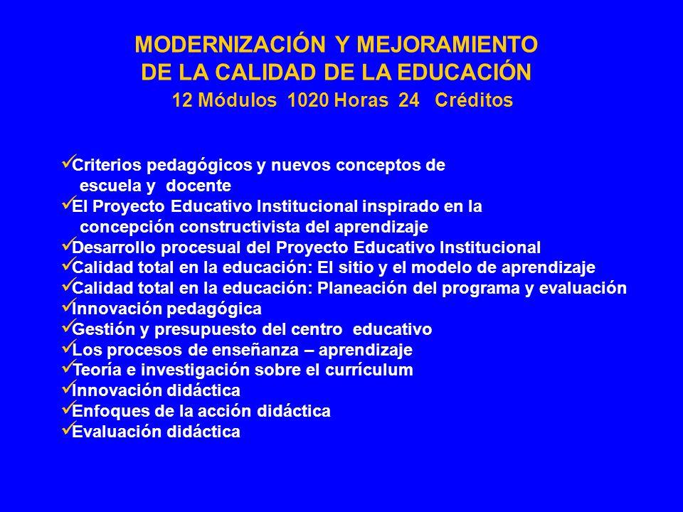 Criterios pedagógicos y nuevos conceptos de escuela y docente El Proyecto Educativo Institucional inspirado en la concepción constructivista del apren