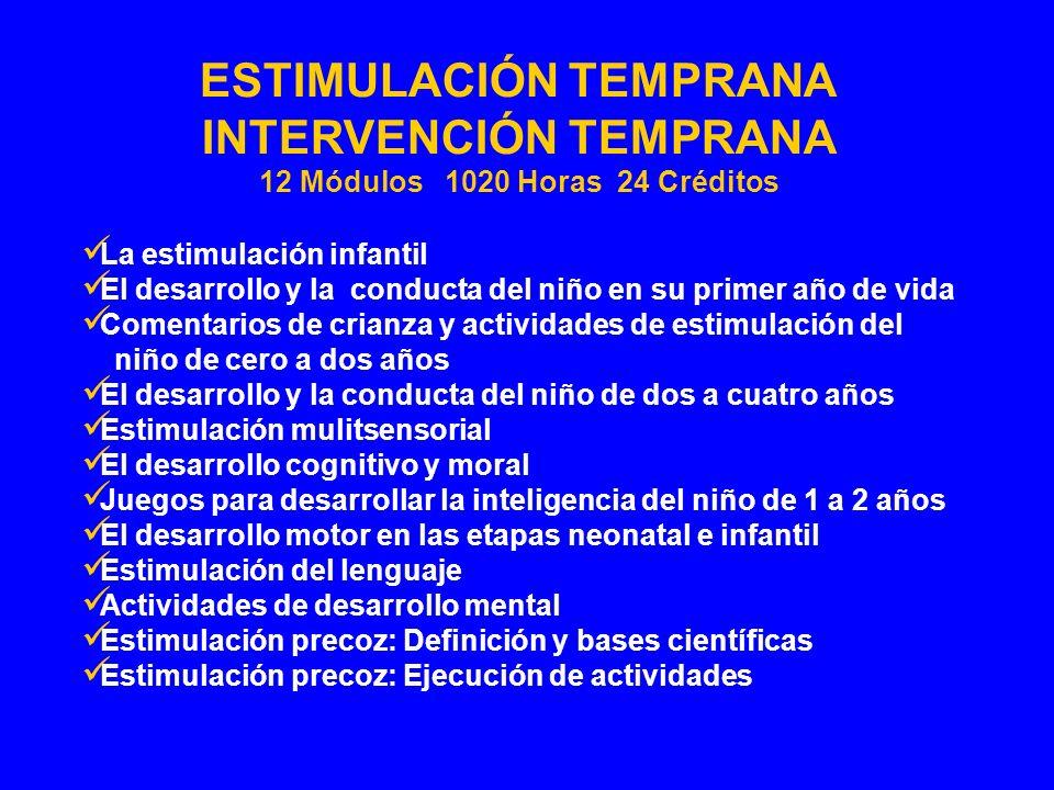 La estimulación infantil El desarrollo y la conducta del niño en su primer año de vida Comentarios de crianza y actividades de estimulación del niño d