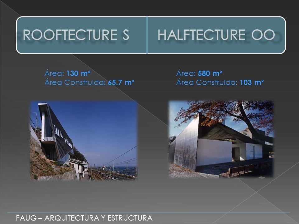 FAUG – ARQUITECTURA Y ESTRUCTURA Área: 130 m² Área Construida: 65.7 m² Área: 580 m² Área Construida: 103 m²