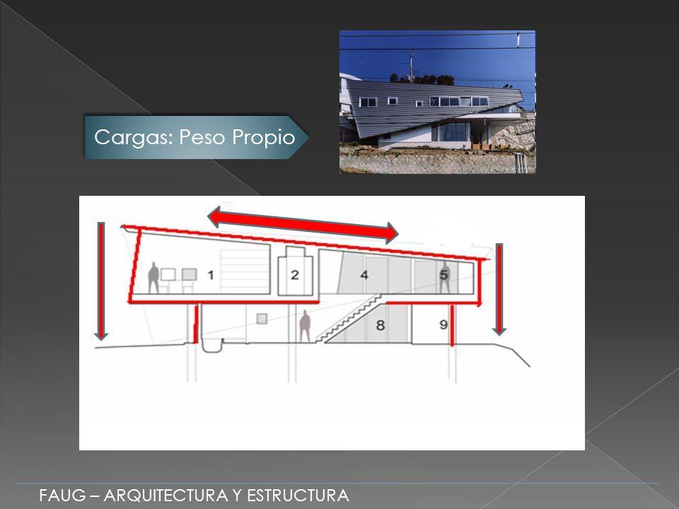 Clasificación Estructural La estructura presenta un predominio de Elementos Lineales FAUG – ARQUITECTURA Y ESTRUCTURA