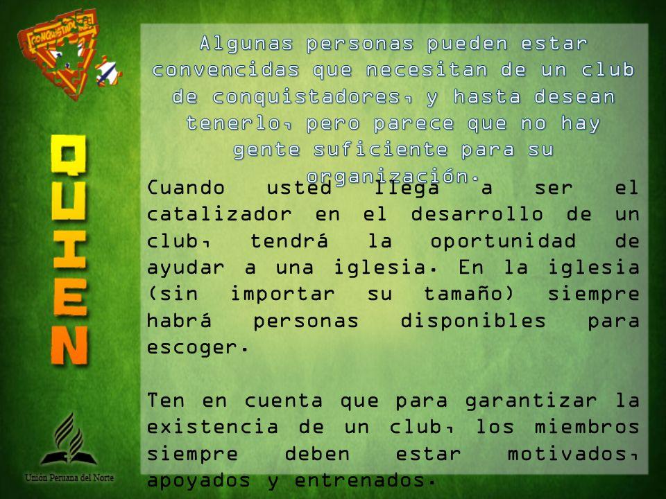 Grupo 1 - REGULARES: Directores, consejeros, instructores y otros que dirijan las actividades regulares del club.