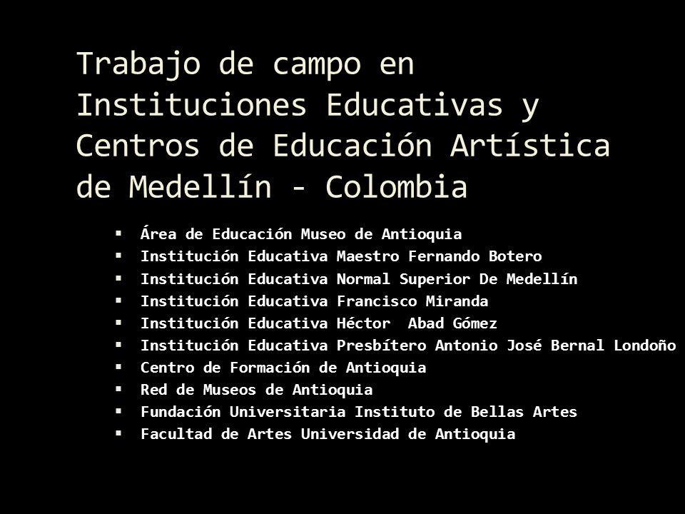 Área de Educación Museo de Antioquia Reunidos en el Museo de Antioquia, Transductores y el Equipo del Área de Educación