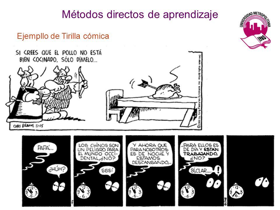 Métodos directos de aprendizaje Ejempllo de Tirilla cómica