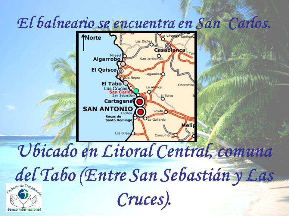 El balneario se encuentra en San Carlos.
