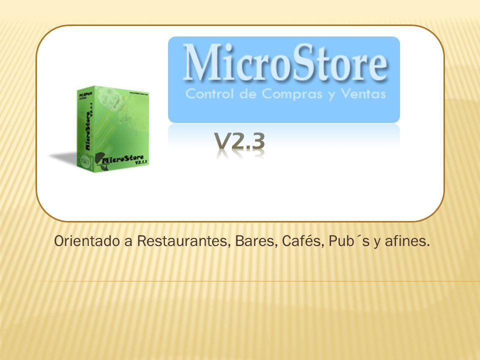 Con MicroStore ud podra: Configurar el sistema a requerimiento de su negocio.