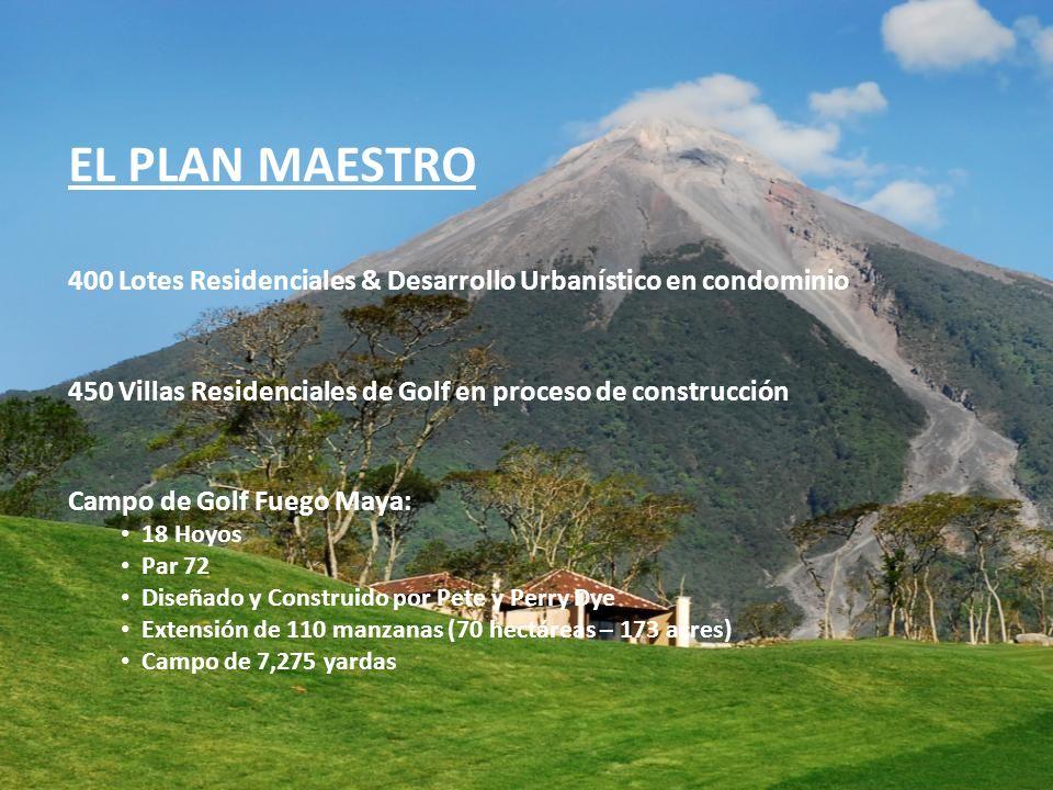 EL PLAN MAESTRO 400 Lotes Residenciales & Desarrollo Urbanístico en condominio 450 Villas Residenciales de Golf en proceso de construcción Campo de Go