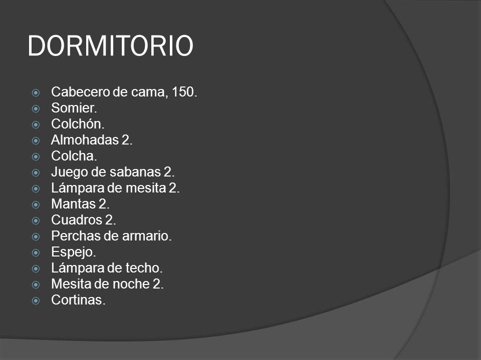 DORMITORIO Cabecero de cama, 150.Somier. Colchón.