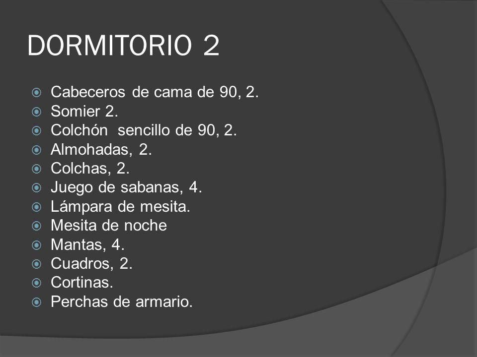 DORMITORIO 2 Cabeceros de cama de 90, 2.Somier 2.