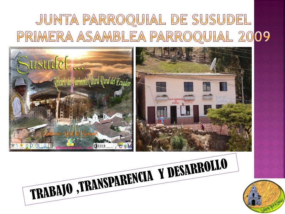 Trabajo, transparencia y desarrollo TRABAJO,TRANSPARENCIA Y DESARROLLO