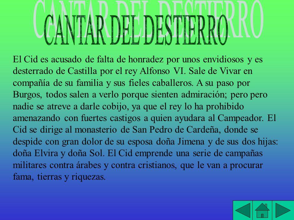 El Cid se dirige a Valencia, que estaba en poder de los moros, y logra conquistar la ciudad.