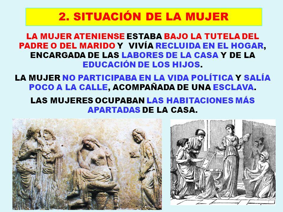 LA MUJER ESPARTANA TENÍA MAYOR IGUALDAD RESPECTO AL HOMBRE Y ERA EDUCADA EN SU MISMO RÉGIMEN DE DUREZA, DISCIPLINA Y FORMACIÓN MILITAR.