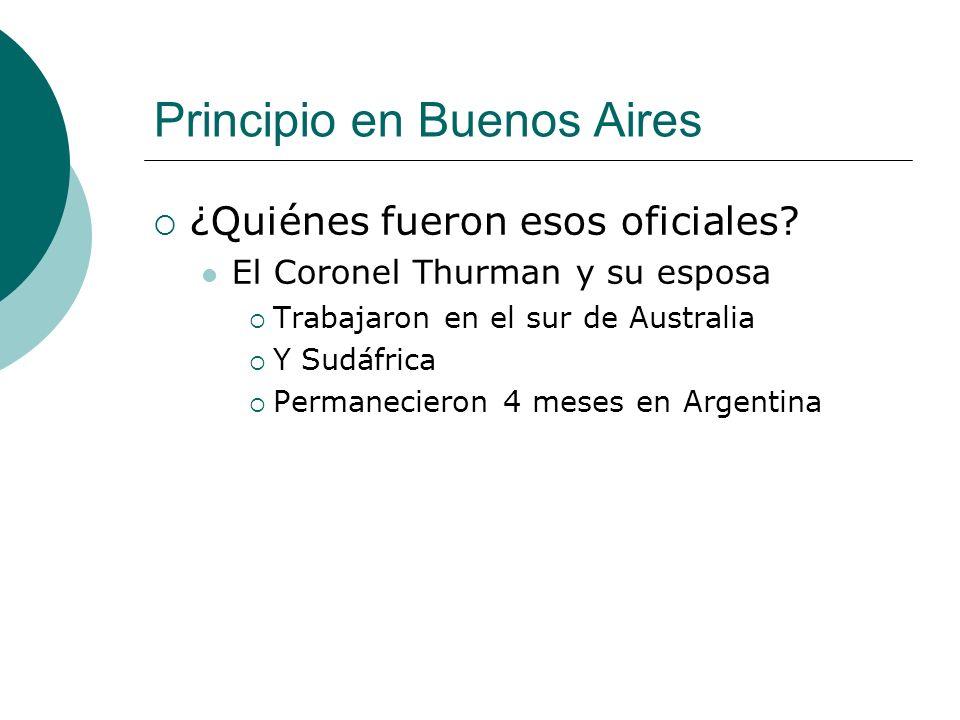 Principio en Buenos Aires ¿Quiénes fueron esos oficiales.