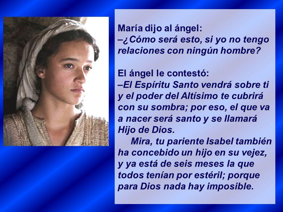 El ángel le dijo: –No temas, María, pues Dios te ha concedido su favor.