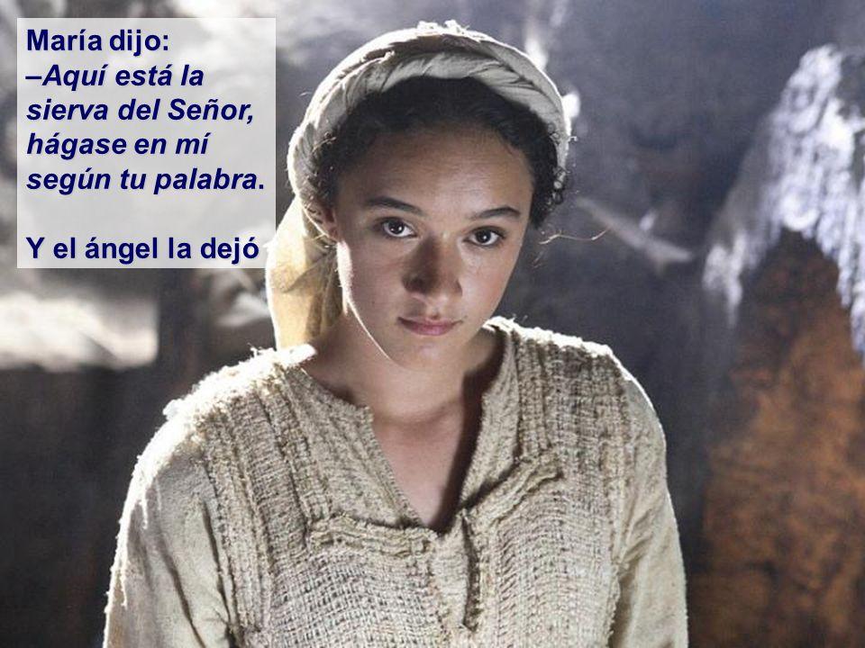 María dijo al ángel: –¿Cómo será esto, si yo no tengo relaciones con ningún hombre.