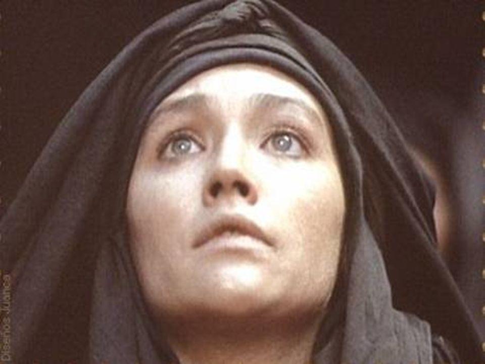 Y después de la crucifixión, se acercó a la cruz. Y Jesús la vio y pudo hablar para ella: