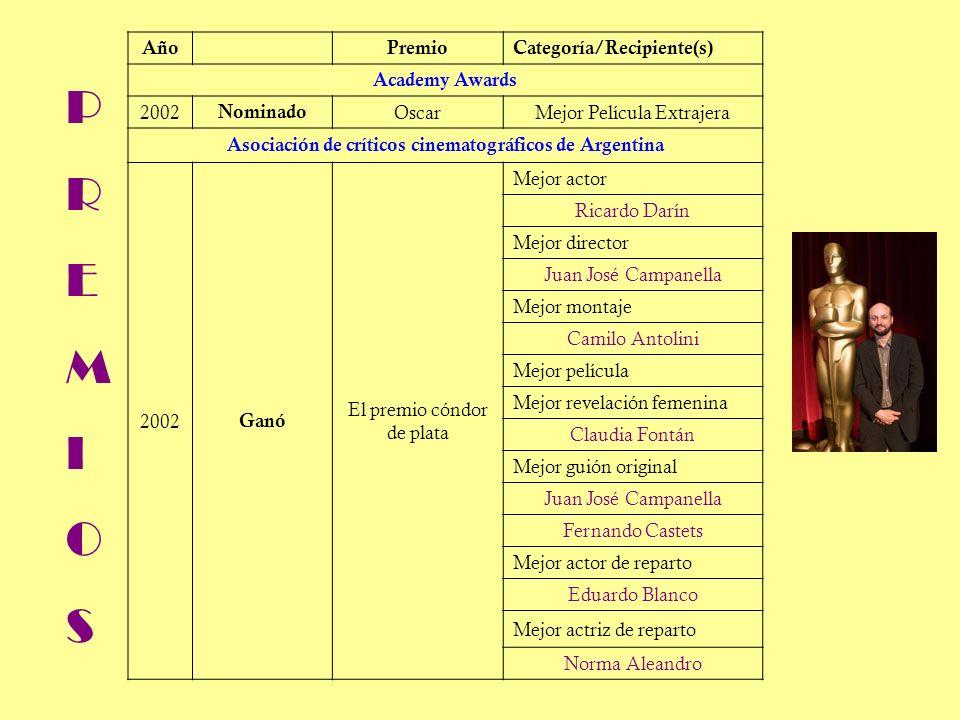 El director: Juan José Campanella Nació el 16 de enero de 1957 en Buenos Aires.