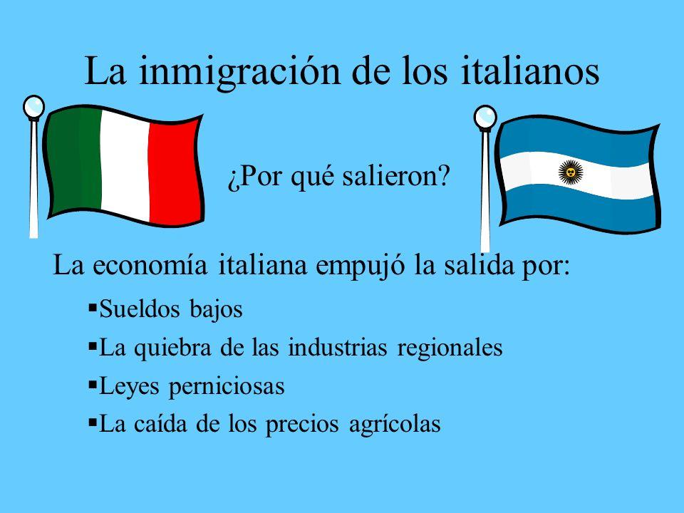 La inmigración de los italianos ¿Por qué salieron.