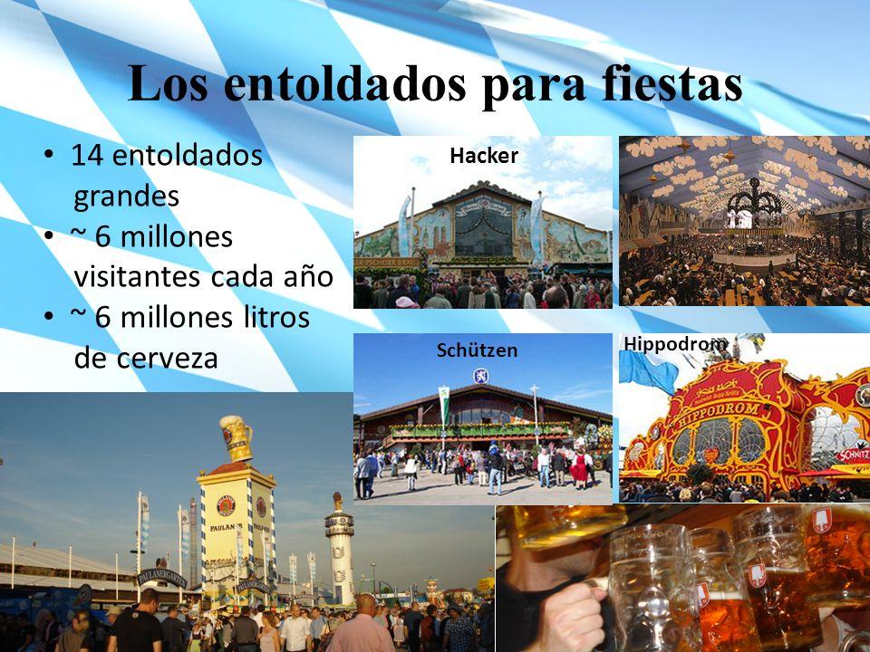 Los entoldados para fiestas Hacker Schützen Hippodrom 14 entoldados grandes ~ 6 millones visitantes cada año ~ 6 millones litros de cerveza